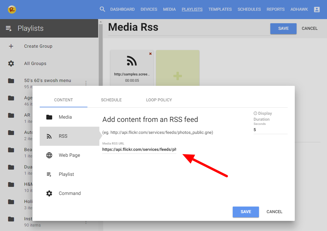 Using Media RSS Feeds – Revel Digital
